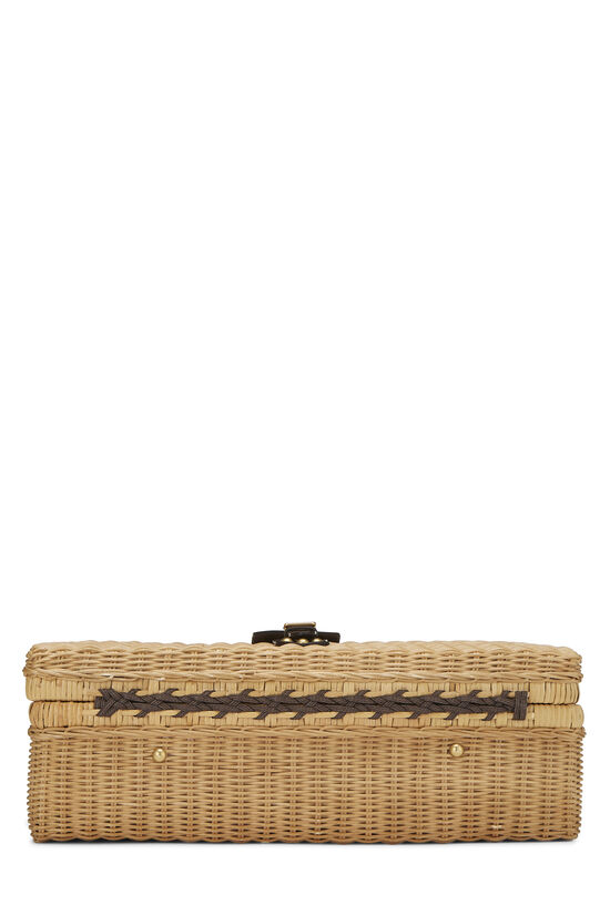 Natural Wicker Web Suitcase, , large image number 4