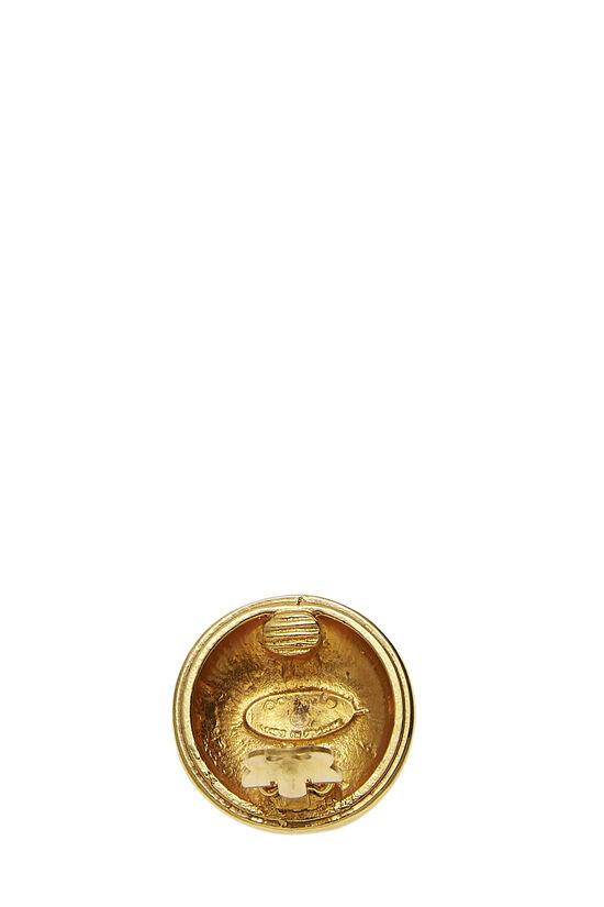Gold 'CC' Sunburst Earrings, , large image number 2