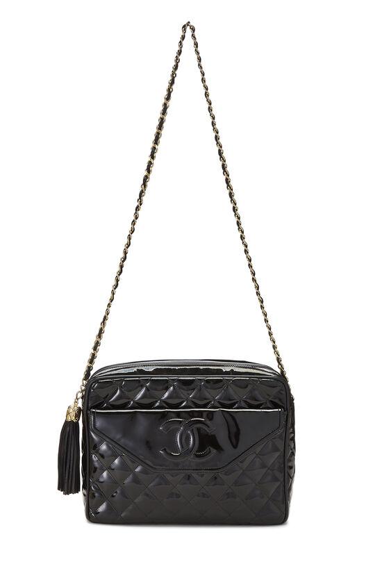 Black Patent Leather Pocket Camera Bag Medium, , large image number 1