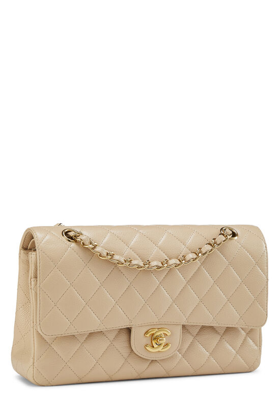 Beige Quilted Caviar Classic Double Flap Medium, , large image number 1