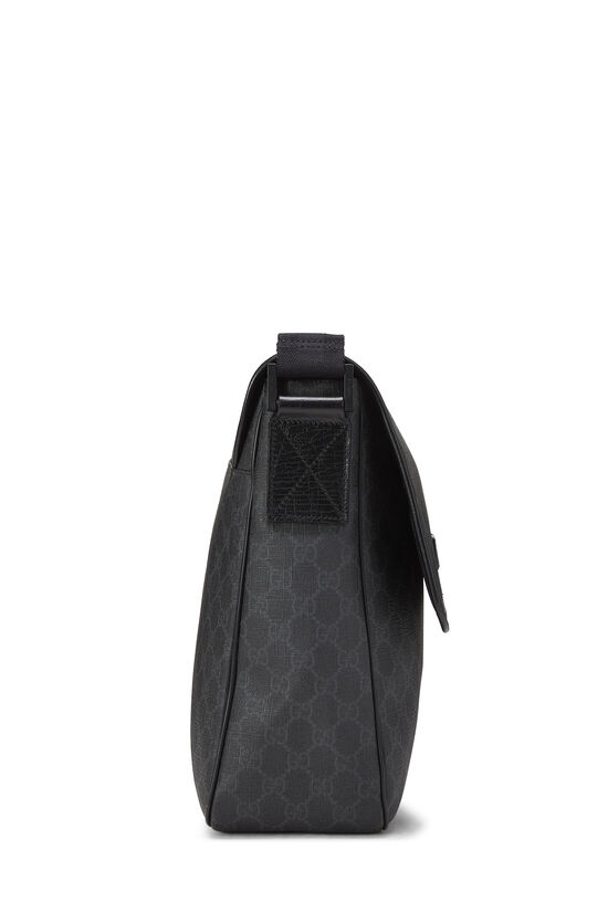 Black Original GG Supreme Canvas Messenger Bag Large, , large image number 2
