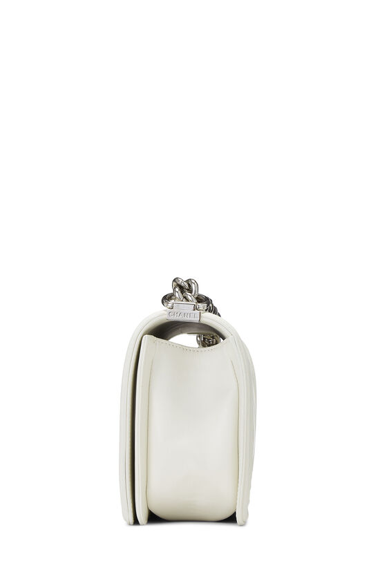 White Rainbow Chevron Lambskin Boy Bag Medium, , large image number 3