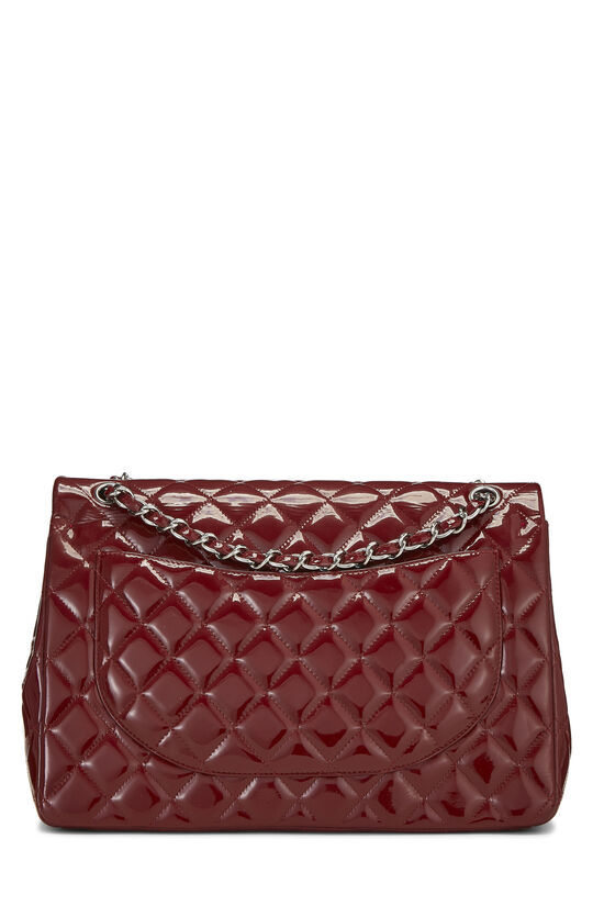 Red Quilted Patent Leather New Classic Double Flap Maxi, , large image number 3