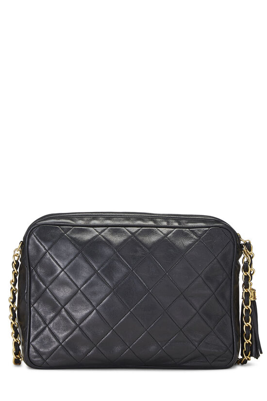 Black Lambskin Pocket Camera Bag Medium, , large image number 4