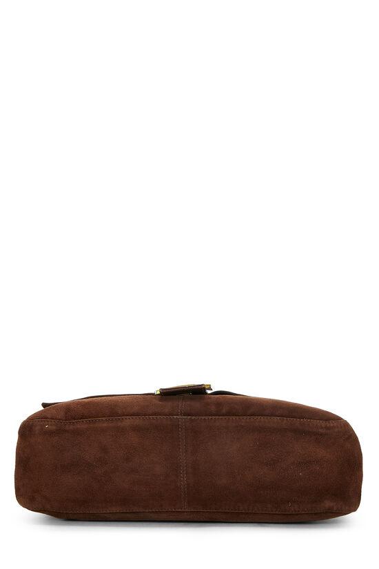 Brown Suede Shoulder Bag, , large image number 4