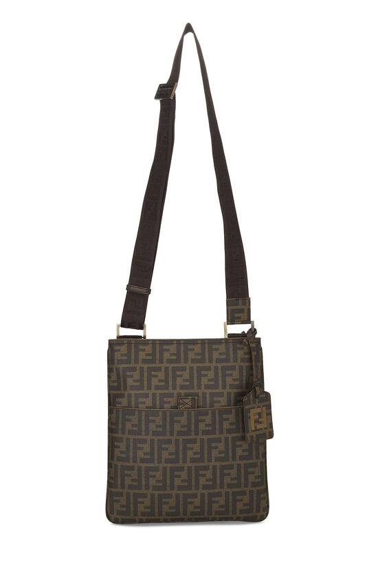 Brown Zucca Coated Canvas Flat Messenger Small, , large image number 1
