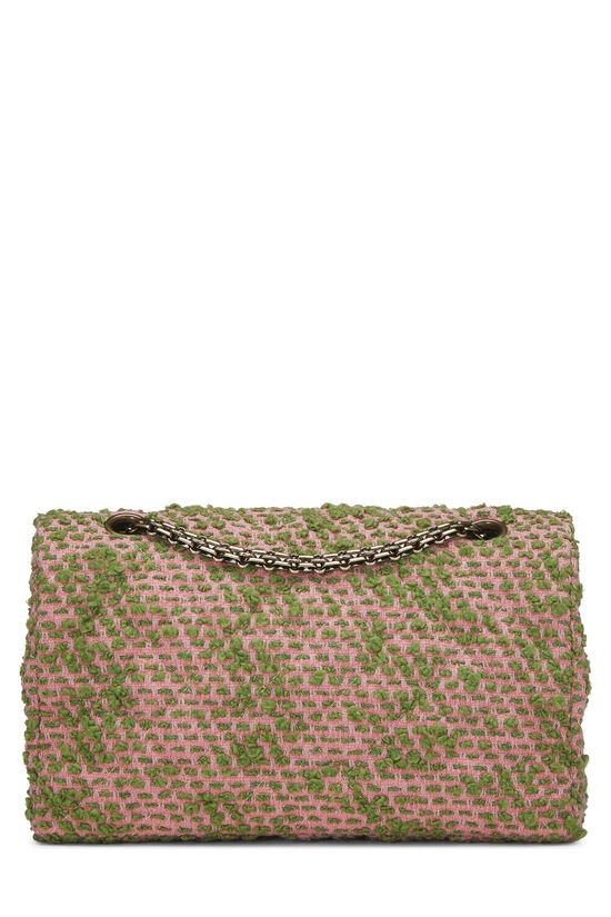 Pink & Green Tweed Classic Flap Medium, , large image number 3