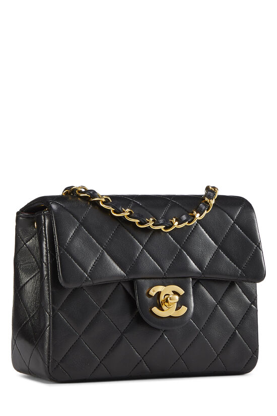 Black Quilted Lambskin Half Flap Mini, , large image number 1