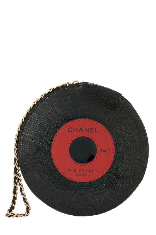 Black Patent Vinyl Record Clutch, , large image number 3