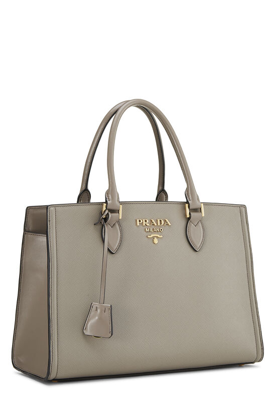 Grey Saffiano Leather Tote, , large image number 1