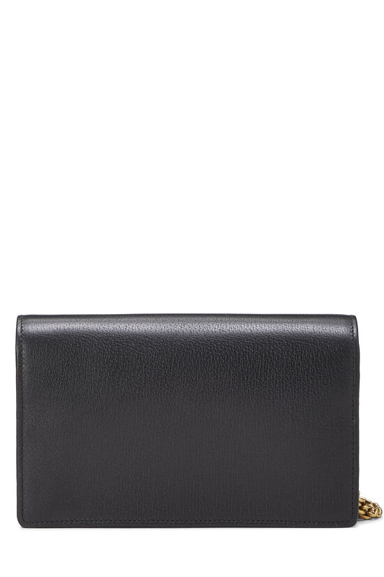 Black Leather GG Marmont Wallet on Chain Mini, , large image number 3