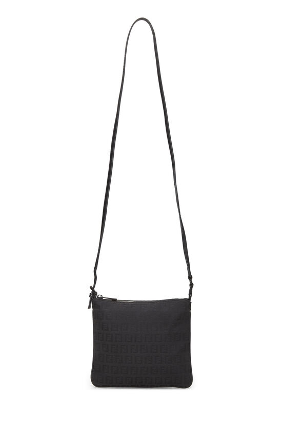 Black Zucchino Canvas Shoulder Bag Small, , large image number 6