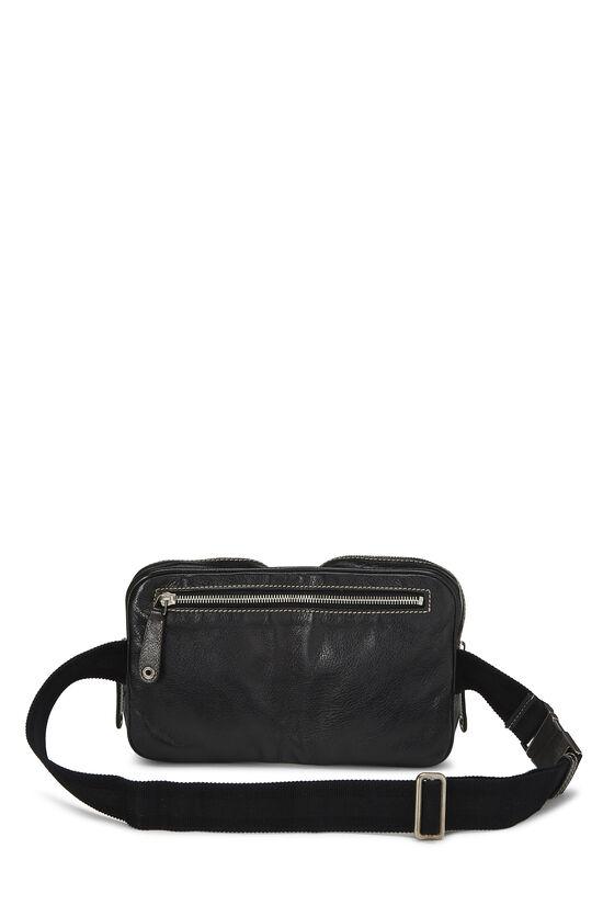 Black Leather Belt Bag, , large image number 3