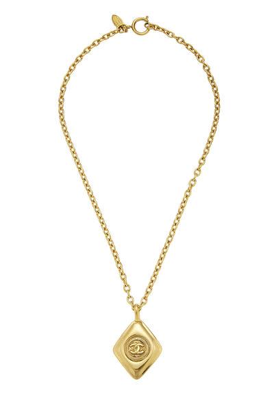 Gold 'CC' Necklace