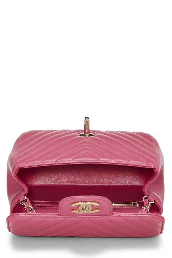 Pink Quilted Lambskin Classic Square Flap Mini, , large image number 5
