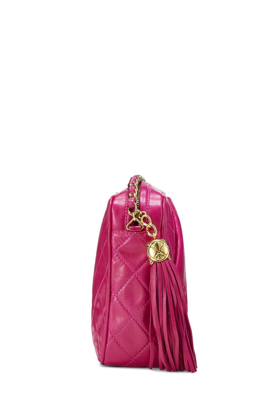 Pink Lambskin Diagonal Camera Bag Small, , large image number 2