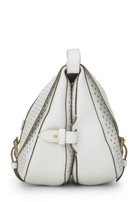 White Perforated Leather Saumur 30, , large image number 2