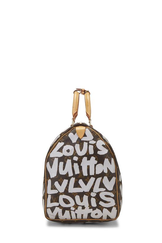 Stephen Sprouse x Louis Vuitton Grey Monogram Graffiti Keepall 50, , large image number 2