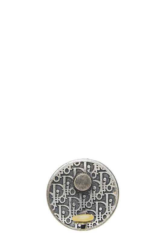 Silver Shield Clip-On Earrings, , large image number 2