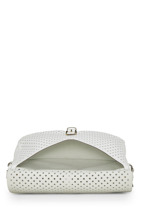 White Perforated Leather Saumur 30, , large image number 5