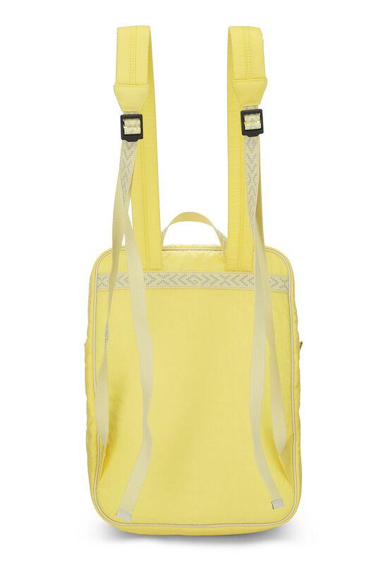 Yellow Nylon GG Backpack, , large image number 3