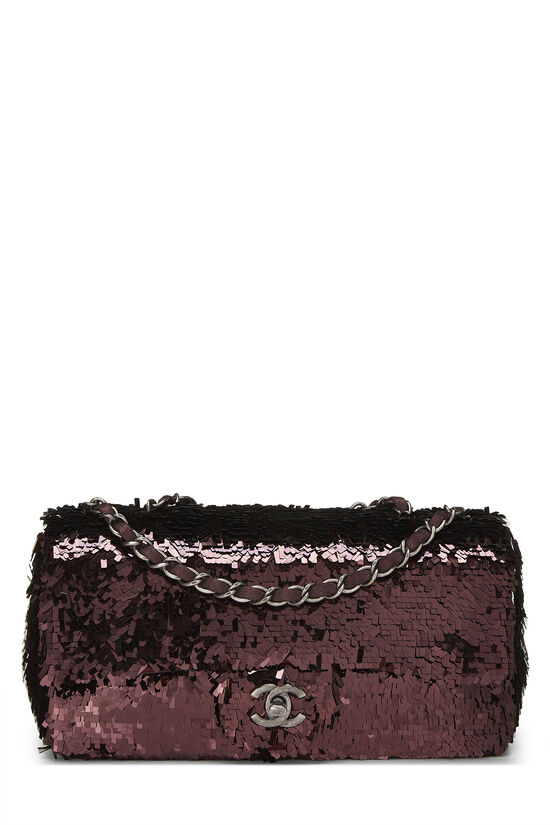 Burgundy Sequin Half Flap Small, , large image number 0