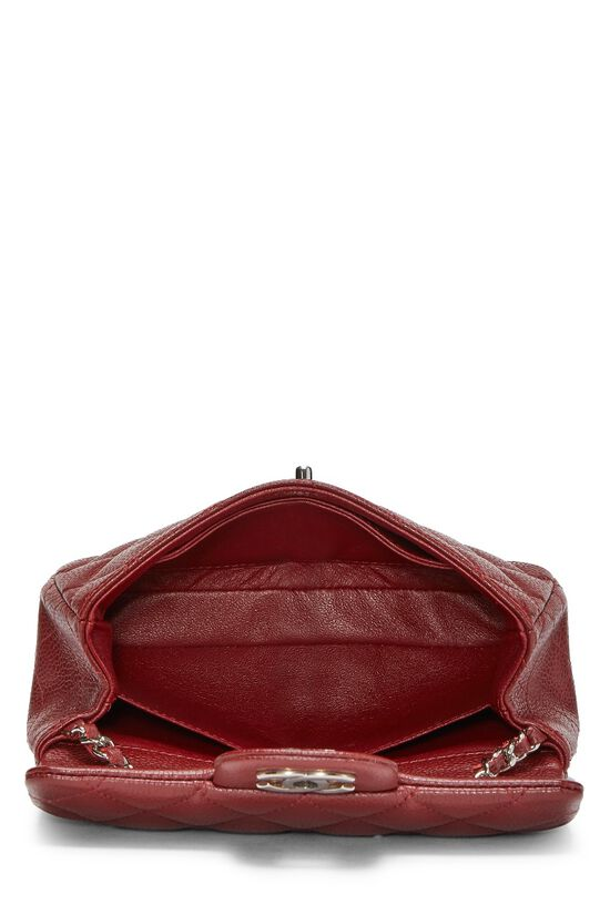 Burgundy Quilted Caviar Half Flap Mini, , large image number 5