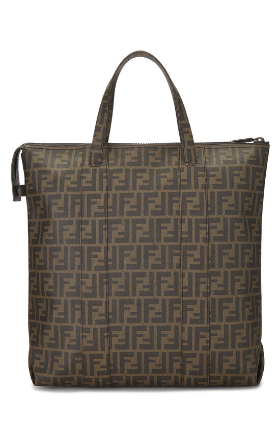 Brown Zucca Coated Canvas Vertical Tote Large, , large image number 3