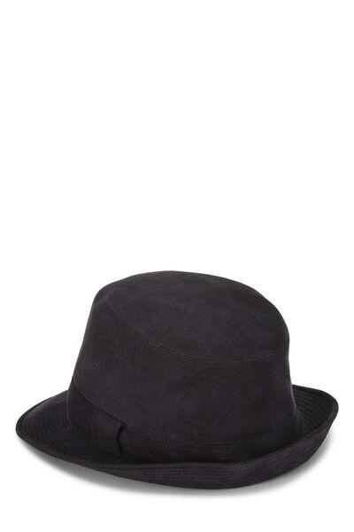 Black Corduroy Bucket Hat, , large