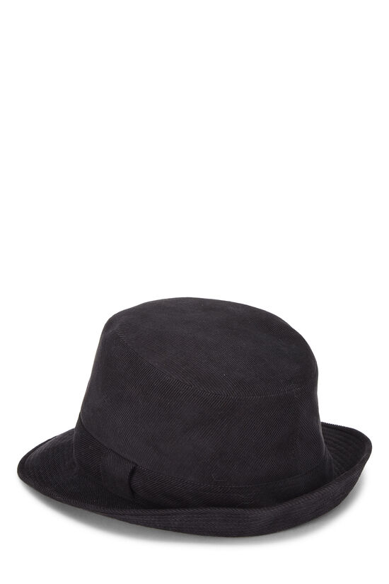Black Corduroy Bucket Hat, , large image number 1
