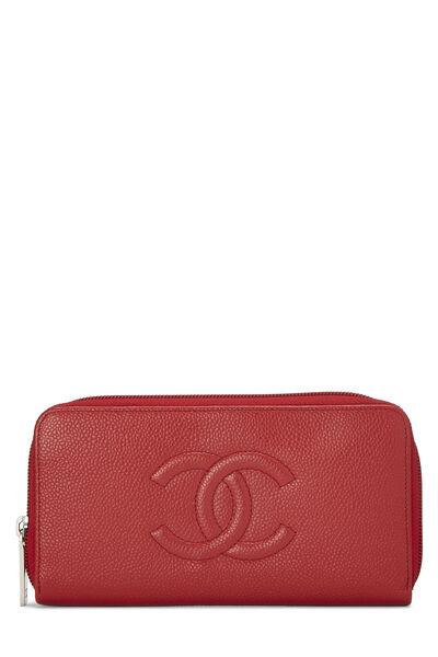 Red Caviar 'CC' Zip Wallet