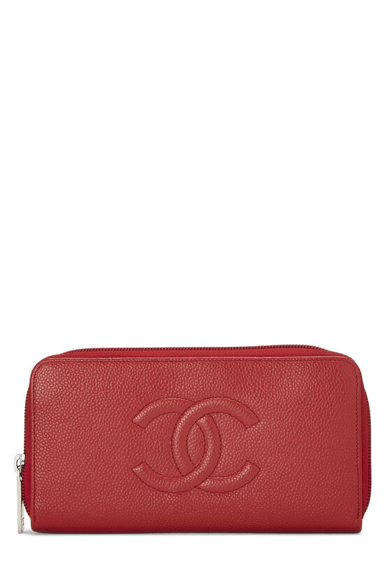 Red Caviar 'CC' Zip Wallet, , large image number 0