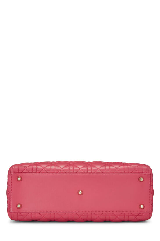 Pink Cannage Quilted Lambskin Lady Dior Large, , large image number 5