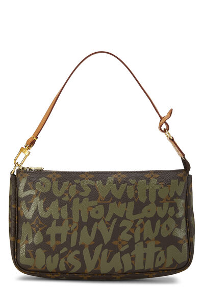 Stephen Sprouse x Louis Vuitton Green Monogram Graffiti Pochette Accessoires