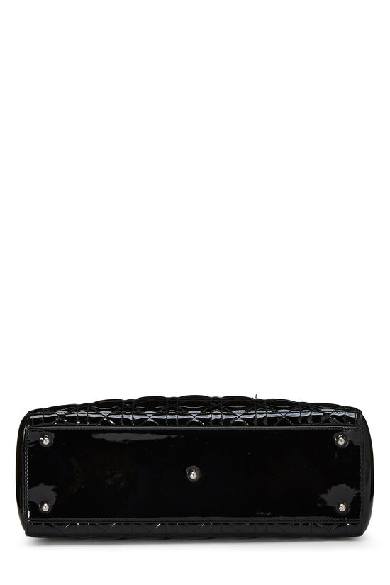 Black Cannage Quilted Patent Lady Dior Large, , large image number 4
