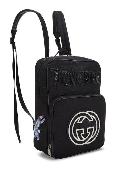 Black Nylon Tenebre Backpack, , large