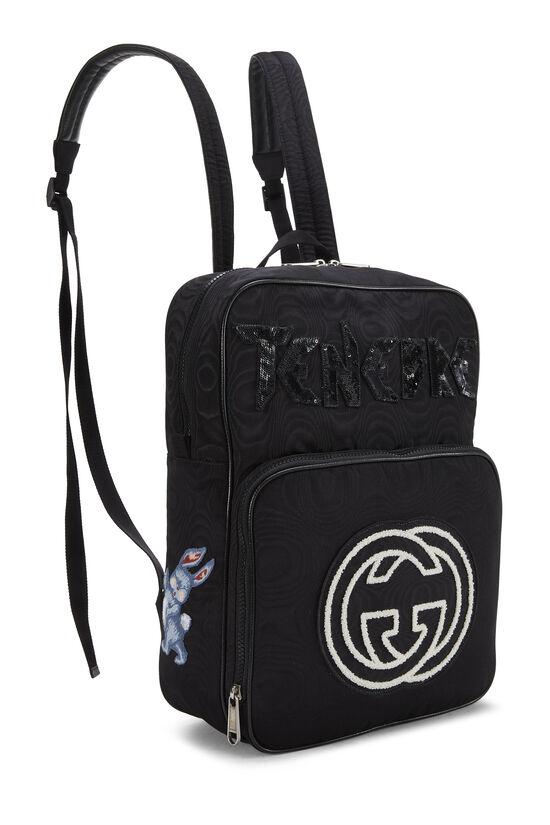 Black Nylon Tenebre Backpack, , large image number 1