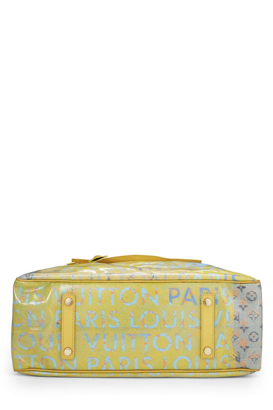 Richard Prince x Louis Vuitton Jaune Denim Pulp Weekender GM, , large image number 4