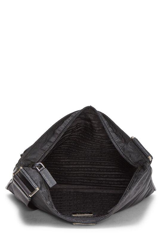 Black Nylon Messenger Bag, , large image number 2