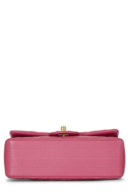 Pink Chevron Lambskin Classic Flap Mini, , large image number 4