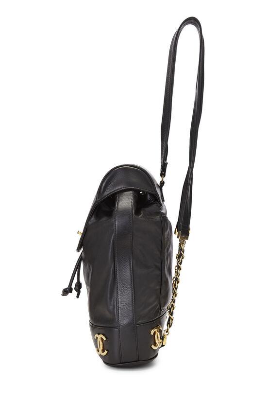 Black Lambskin 3 'CC' Backpack Large, , large image number 2