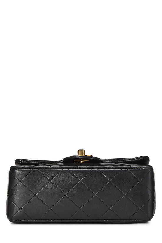 Black Quilted Lambskin Half Flap Mini, , large image number 5