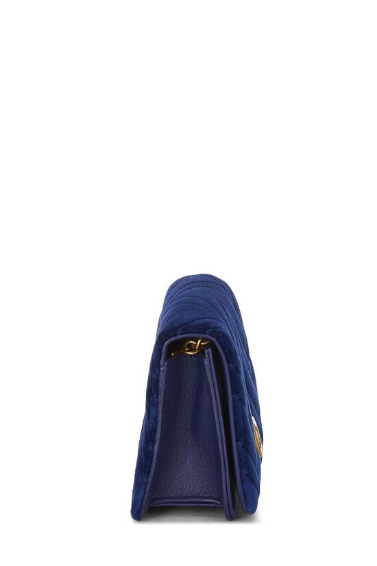 Blue Velvet GG Marmont Wallet on Chain Mini, , large image number 2