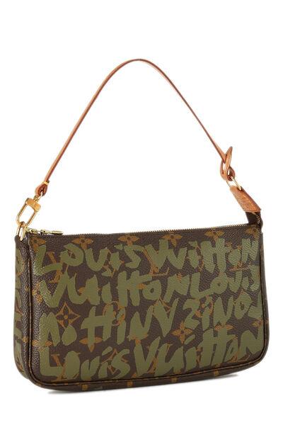 Stephen Sprouse x Louis Vuitton Green Monogram Graffiti Pochette Accessoires, , large