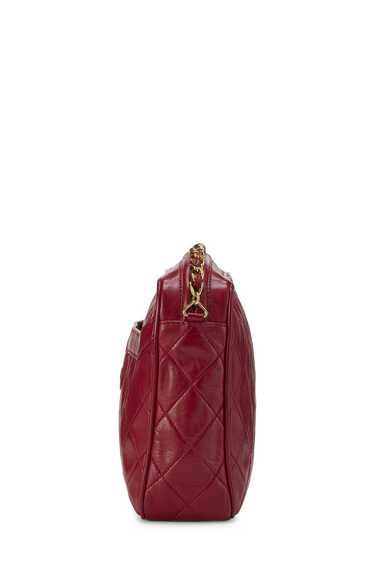 Red Quilted Lambskin Pocket Camera Bag Medium, , large image number 3