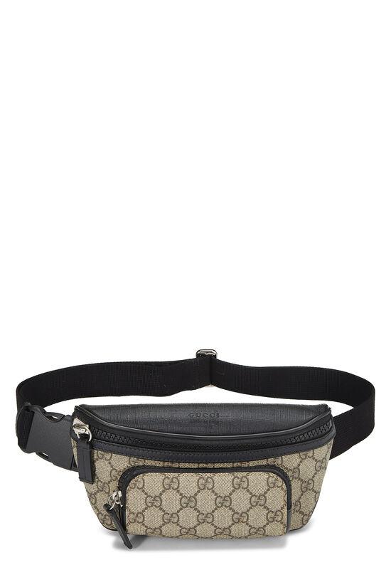 Black & Original GG Supreme Canvas Eden Belt Bag, , large image number 0