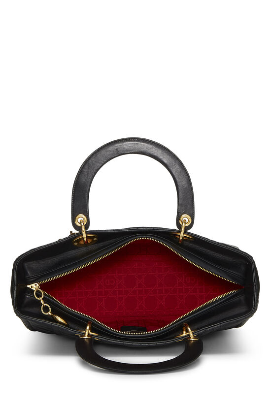 Black Cannage Quilted Lambskin Lady Dior Large, , large image number 5