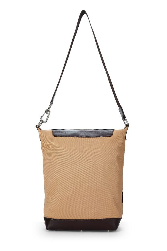 Beige Canvas Shoulder Bag, , large image number 6