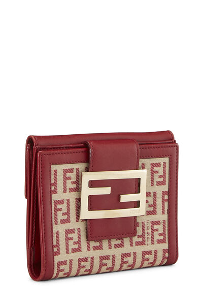Red Zucchino Canvas Compact Wallet, , large