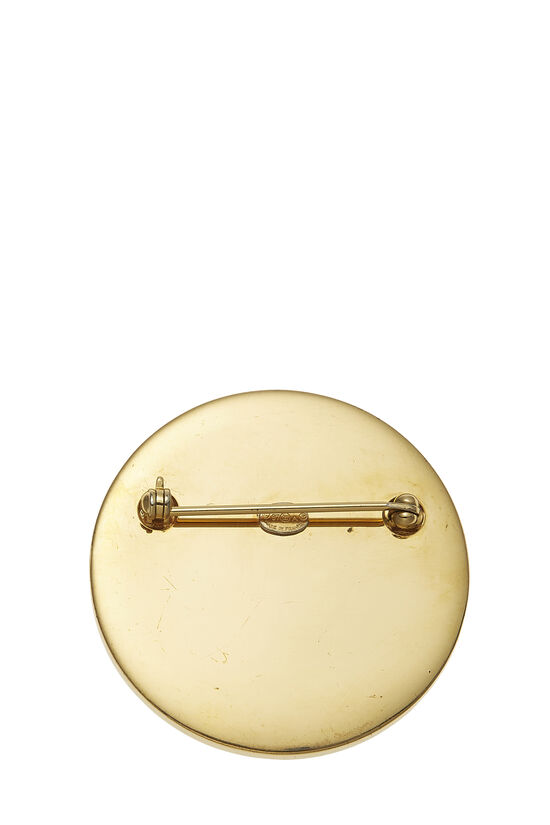 Gold & Silver 'CC' Turnlock Pin Large, , large image number 1